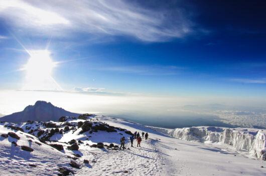 1972: Mount Kilimanjaro, the highest mountain in Africa.