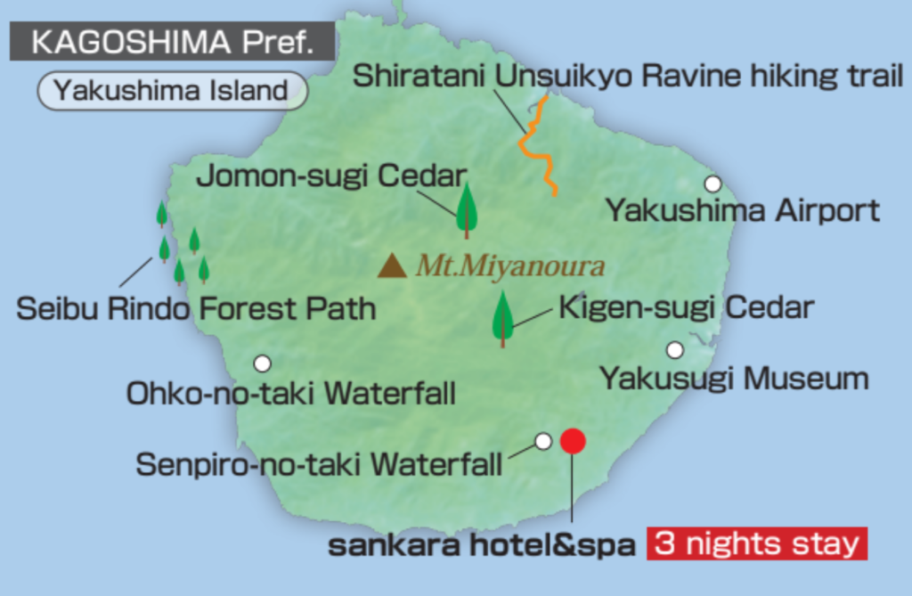 Map of Yakushima Island